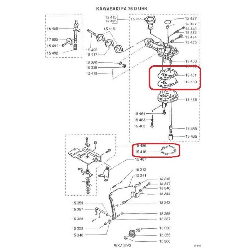 kit membranes pour kawasaki fa76